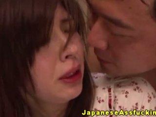 Japansk milf anal riding på pikk