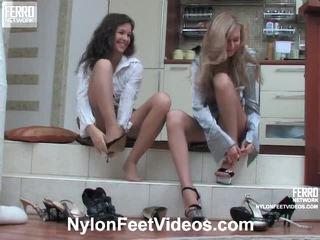 Frances ja stephanie kimainen sukkahousut jalkaa elokuva