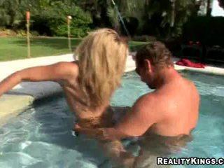 big tits, pool, hardcore