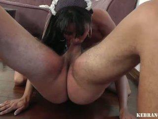 Brasiliano housekeeper ballbusting