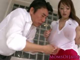 Busty Asian Milf Showing Her Creampie