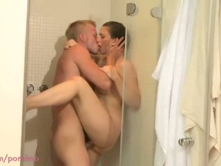 MOM HD Shower sex for MILF with young lover