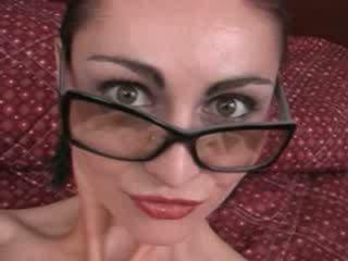 Hot Escort with glasses Blowjob