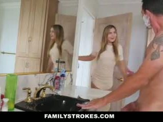 Familystrokes - daughter fucks step-dad while eje showers