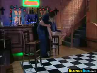 Blonde Slut Fingered And Fucked At A Bar