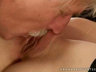 Gitta Blond fucking with old man