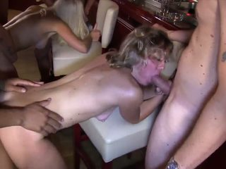 Italian Greta and blonde debby in an orgy