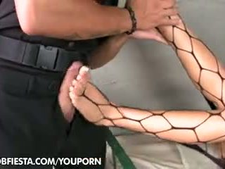 Guard house foot fetish with Madison Parker