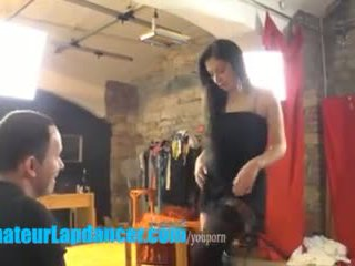 19yo bombshell teases a horny stranger with lapdance