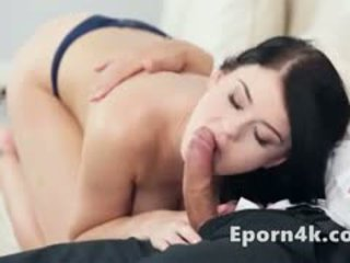HD Young Busty Brunette Give Blowjob To Stepb