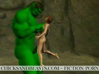أجنبي كارهين شعر الصدر. 3d sci-fi جنس stories