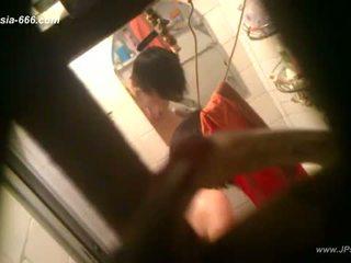 Peeping 中國的 女孩 bath