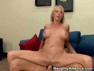 Emma starr rides a young cock