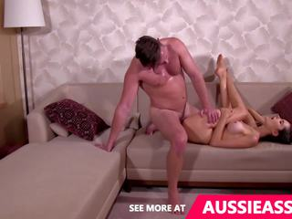 Cute Aussie Girl Does Splits While Fucked Upsidedown.