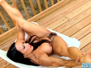 Denise Masino - Break Time Stretch - Female Bodybuilder