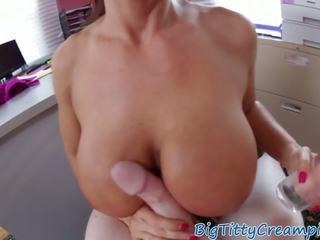 Gorgeous MILF Tittyfucks a Throbbing Cock: Free HD Porn 38