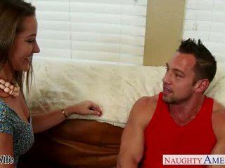Beauty wife Dani Daniels gets nailed hard