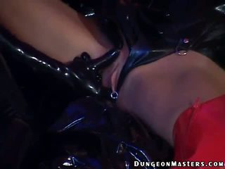 Sensuous Lesbian Slave Hilbel Gets Latex Gloves Licked And Sucked By A Hot Mistress1