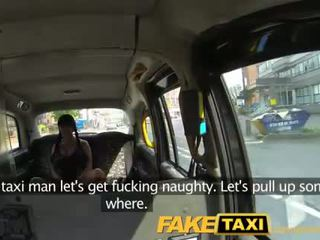 FakeTaxi Busty brunette loves Scottish cock