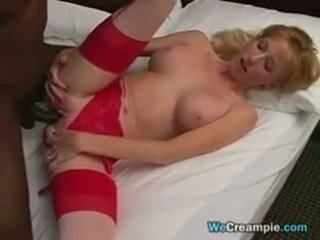Mother Gets Black Cum In Her Pussy