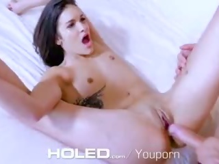 Holed Tiny Breasted Edin Sin Gets Her Asshole Plugged With Big Dick