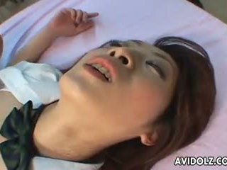 Asian school girl gets fucked in the class doggy style