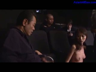 Milf Sucking Cocks Fucked By Her Husband In Wheelchair And Other Guy In The Cinema by japlez