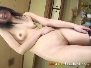 Petite Asian Schoolgirl Fingering