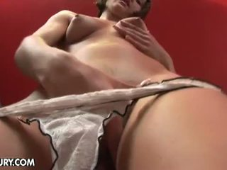 Reilly toying her asshole and showing gaped hole for the camera