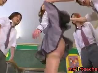 Eri Ouka Sweet Japanese Teacher Gangbang