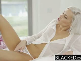 Blacked preppy blondinka söýgülim kacey jordan cheats with bbc