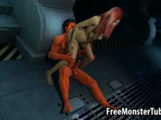 Foxy 3D Redhead Gets Licked And Gives Satan Head