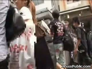 Sexy japanese teens fuck in public places 02