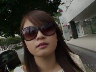 kokybė briunetė tikras, patikrinti japonijos kokybė, malonumas lauko lytis geriausias