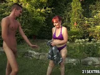 ass licking, granny, blowjob