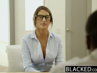 Blacked august ames gets an giữa các chủng tộc creampie