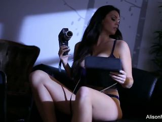 Alison Strips off Her Purple Lingerie to Play with...