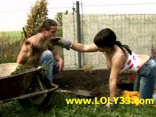outdoor licking fucking in the garden
