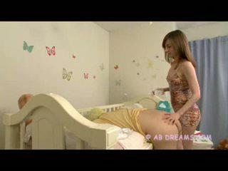 freund, babysitter, spaß diaper ideal