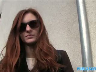 PublicAgent Naughty redhead fucked outdoors