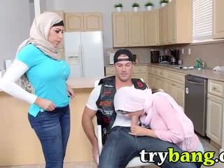 Arab Mia Khalifa & Juliana Vega Stepmom 3way