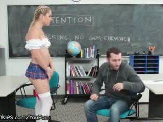 Slutty Teen Schoolgirl Horny in Detention
