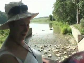 bestemor, utendørs, old farts, granny fucking