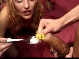brunette, oral sex, group sex, vaginal sex