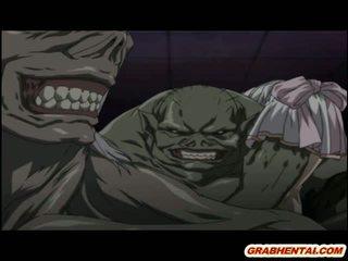 Hentai bắt qua tentacles và monsters brutally fucked lược