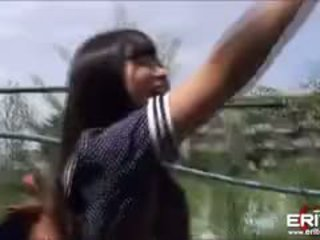 Fresh Japanese Schoolgirl Fucked And Creampied On A Rooftop