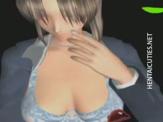 3D Hentai Angel Gets Pussy Rubbed