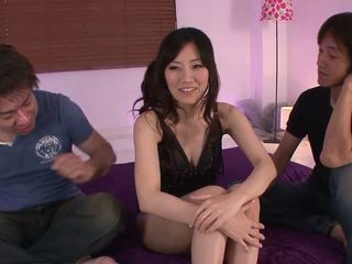 Hardcore pounding session with gorgeous babe and two studs