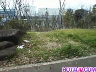 Miyuki hashida sucks boner na streets