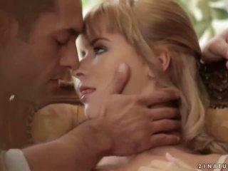 Blonde making love with her handsome boyfriend